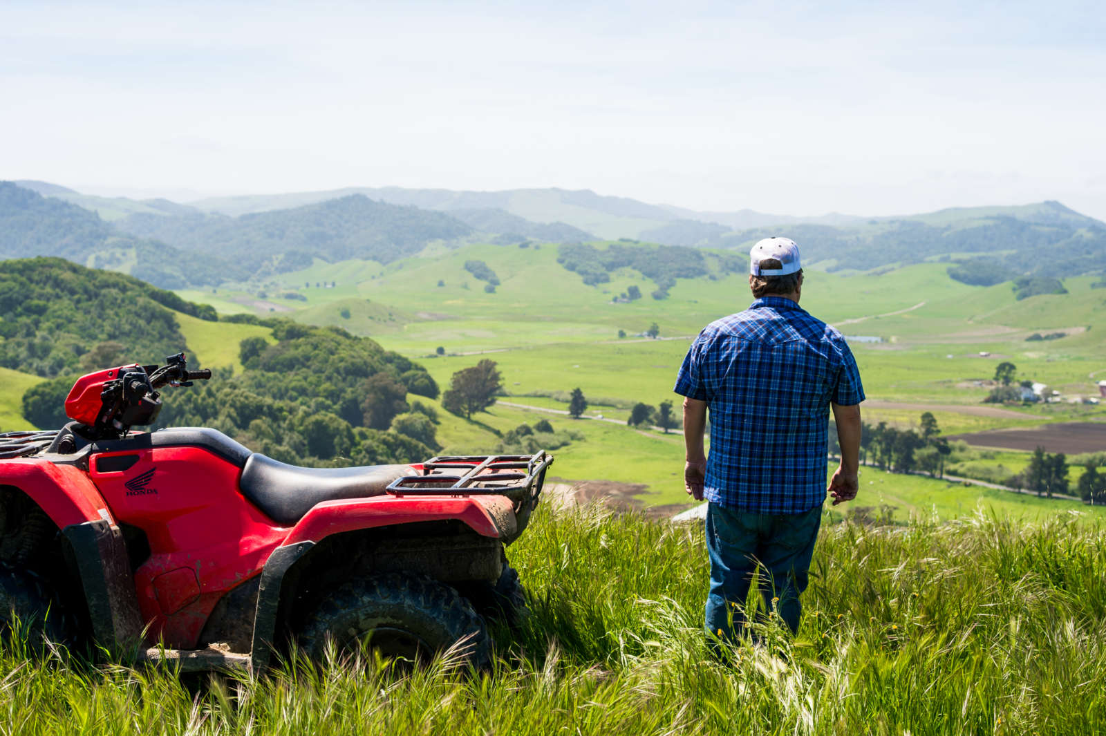 Tony Spaletta looking out over ranch